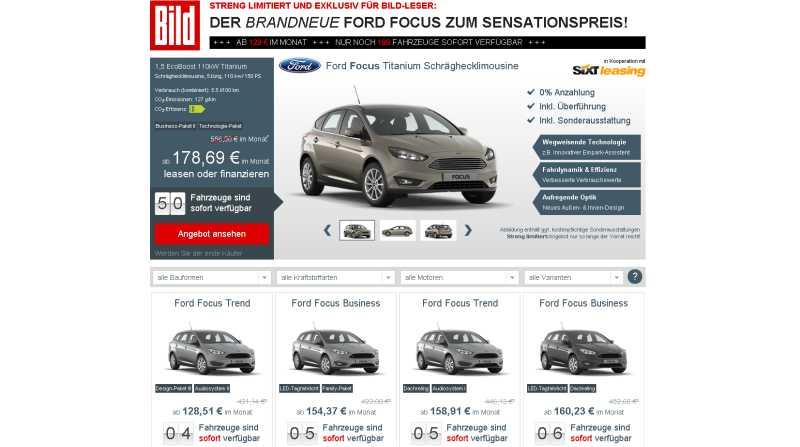 Hammer-Angebot - Sixt-Leasing bietet ein nagelneues Modell der Kompaktklasse ab 129 Euro.3