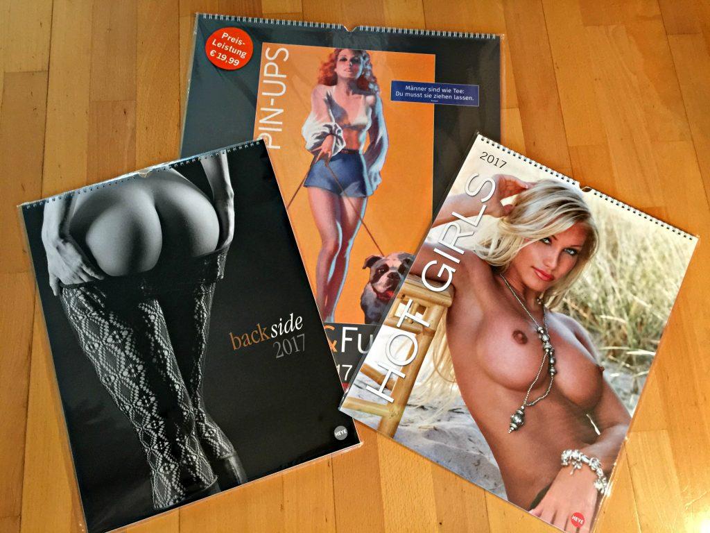 Gewinnspiel – Und nochmal drei erotische Kalender für echte Männer 2017